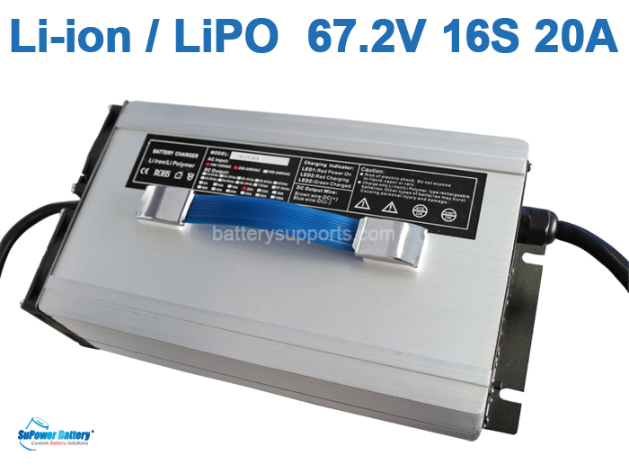 60V 67.2V 57V 20A Lithium ion LiPO Battery Charger 16S 16x 3.6V
