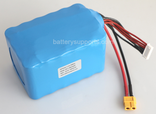 22.2V 24V 8400Ah 120A 6S4P US18650VTC4 High Drain Battery Pack