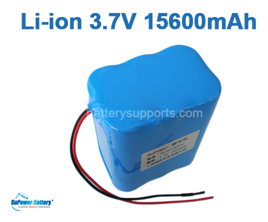 3.6V 3.7V 6* 18650 15600mAh 6P Lithium ion Li-ion Battery Pack