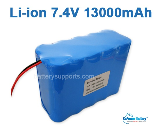 7.2V 7.4V 10* 18650 13Ah 2S5P Lithium ion Li-ion Battery Pack