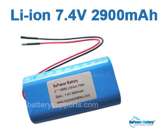 7.2V 7.4V 2* 18650 2900mAh 2S Lithium ion Li-ion Battery Pack