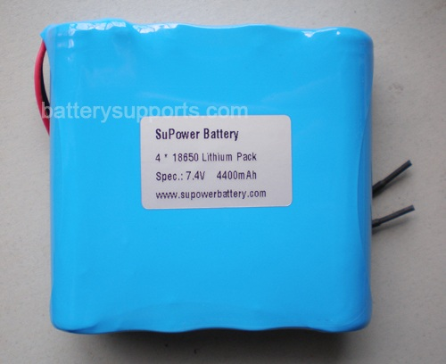 7.2V 7.4V 4* 18650 4400mAh 2S2P Lithium ion Li-ion Battery Pack
