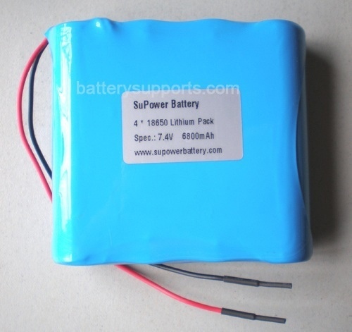 7.2V 7.4V 4* 18650 6800mAh 2S2P Lithium ion Li-ion Battery Pack