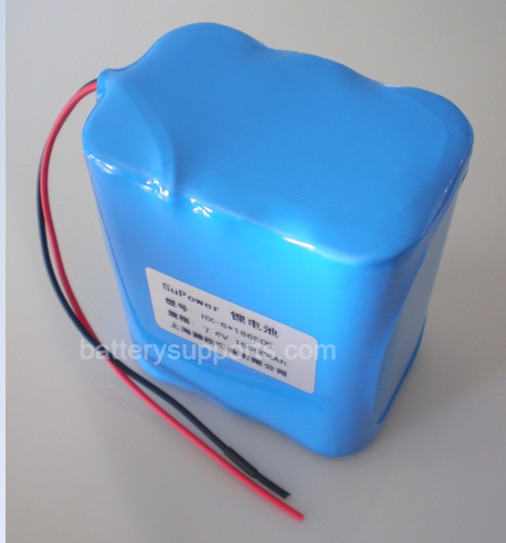 7.2V 7.4V 6* 18650 7800mAh 2S3P Lithium ion Li-ion Battery Pack