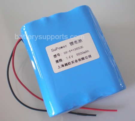 7.2V 7.4V 6* 18650 6600mAh 2S3P Lithium ion Li-ion Battery Pack