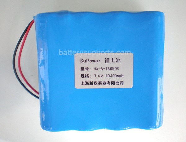 7.2V 7.4V 8* 18650 10400mAh 2S4P Lithium ion Li-ion Battery Pack