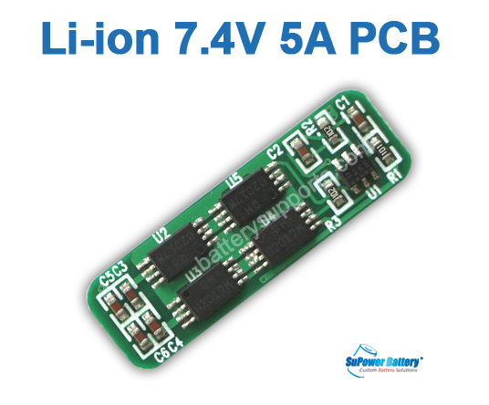 2S 7.4V 8.4V 7.2V 5A Li-ion Battery PCB PCM Protected Chip Board