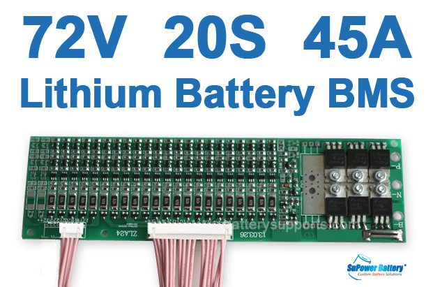 72V 84V 20S 45A 20x 3.6V Lithium ion Li-ion Li-Po Battery BMS