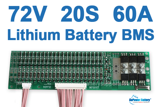 72V 84V 20S 60A 20x 3.6V Lithium ion Li-ion Li-Po Battery BMS