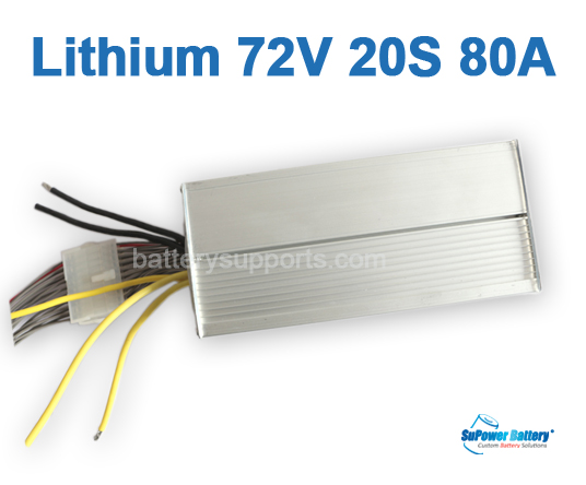 72V 84V 20S 80A 20x 3.6V Lithium ion Li-ion Li-Po Battery BMS
