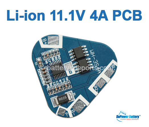 3S 10.8V 11.1V 4A Lithium ion Battery Protection Circuit Board