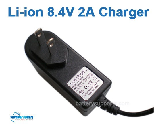 Li-ion Li-Po 7.2V 7.4V 8.4V 2A Wall Socket Battery Charger AC DC