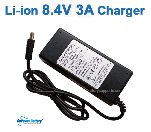 Li-ion Li-Po 7.2V 7.4V 8.4V 3A Wall Socket Battery Charger AC DC
