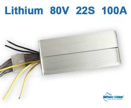 80V 92.4V 22S 100A 22x 3.6V Lithium ion Li-ion Li-Po Battery BMS