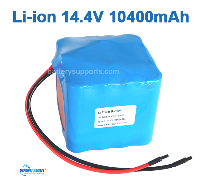 14.4V 14.8V 16*18650 10400mAh 4S4P Lithium ion Li-ion Battery