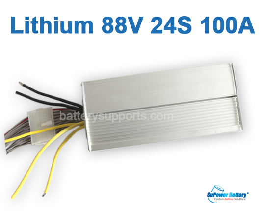 86.4V 88V 24S 100A 24x 3.6V Lithium ion Li-ion Li-Po Battery BMS