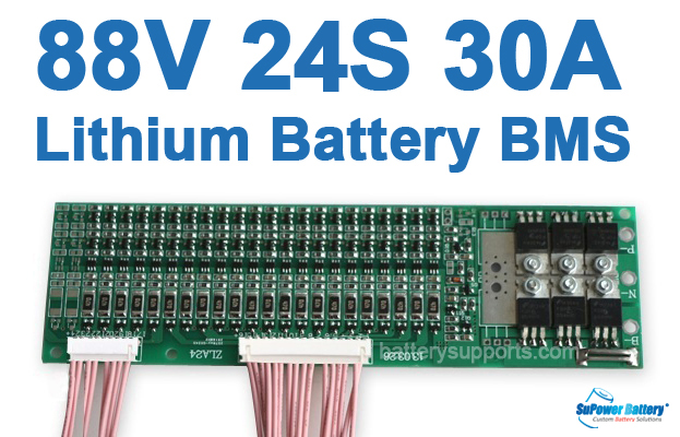 80V 92.4V 24S 30A 24x 3.6V Lithium ion Li-ion Li-Po Battery BMS