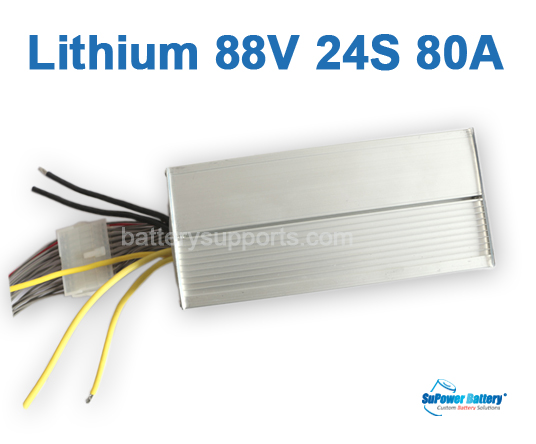86.4V 88V 24S 80A 24x 3.6V Lithium ion Li-ion Li-Po Battery BMS