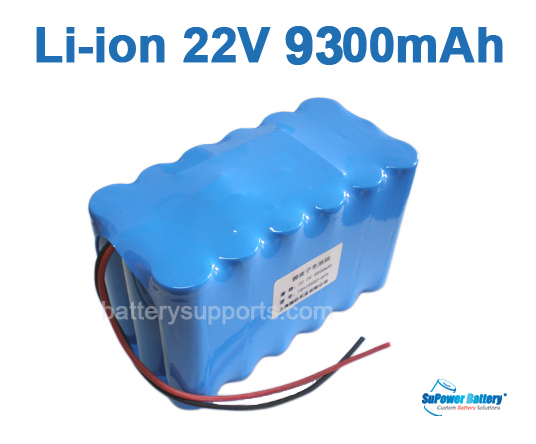 22V 25.2V 18*18650 9300mAh 6S3P Lithium ion Li-ion Battery Pack