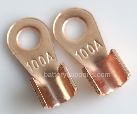 2x Bolt Solderable Copper Cable Lug wire holder armature Post
