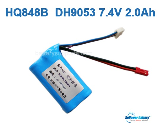HQ848B HQ850 DH9053 DH9140 MJXT23 7.4V 2000mAh Li-ion Battery