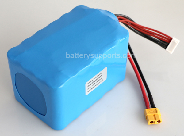 Quad 22.2V 24V 12800mAh 12.8Ah  40A 6S4P Drone Battery Pack