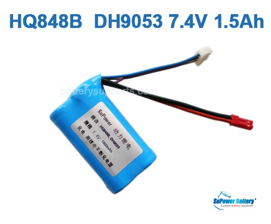 HQ848B HQ850 DH9053 DH9140 MJXT23 7.4V 1500mAh Li-ion Battery