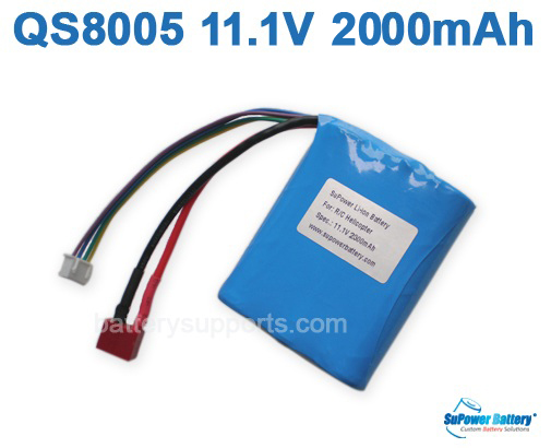 11.1V 2000MAH Lithium BATTERY for QS8005 R/C HELICOPTER