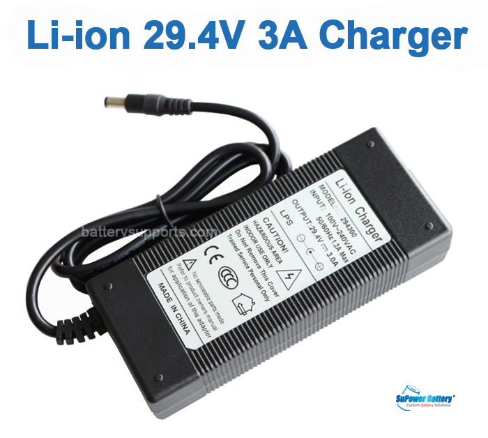 Li-ion Li-Po 25.9V 29.4V 3A 7S Wall Socket Battery Charger AC DC