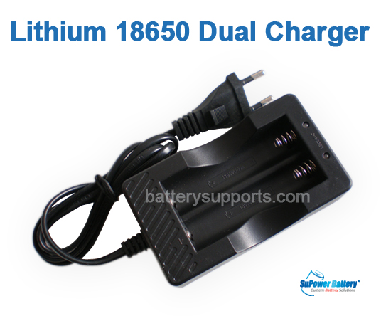 18650 Battery Lithium ion Universal Dual Charger 4.2V 1A Li-ion