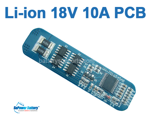 5S 18V 10A Li-ion Lithium 5 Cell Battery Protection Circuit PCB