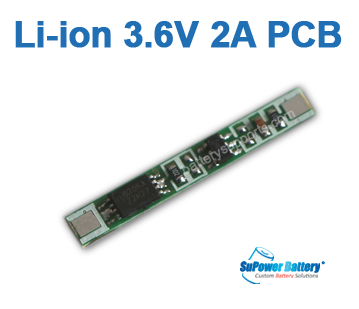 3.6V 3.7V 4.2V 2A Li-ion Lithium Battery PCB PCM Chip Board