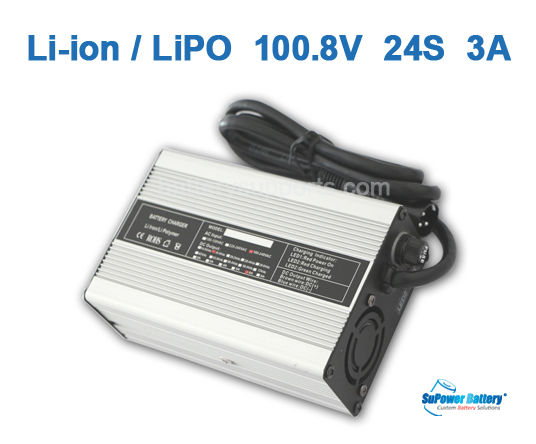100.8V 88V 86V 3A Lithium ion LiPO Battery Charger 24S 24x 3.6V