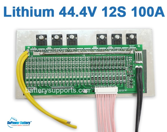 44V 48V 50.4V 12S 100A 12x3.6V Lithium ion LiPolymer Battery BMS