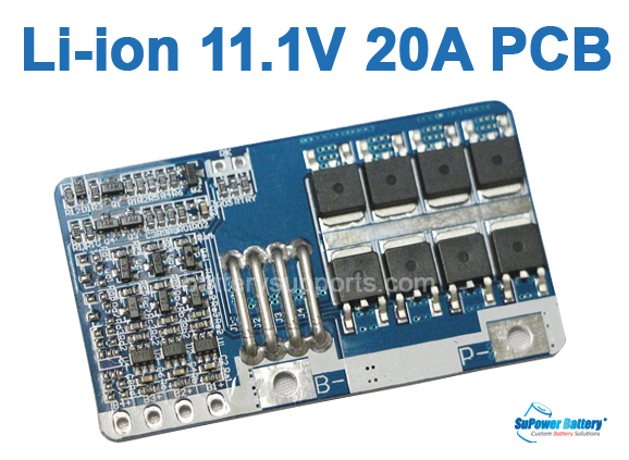 3S packs 11.1V 12V 20A Lithium Battery Protection BMS Board W// Balanced Charging