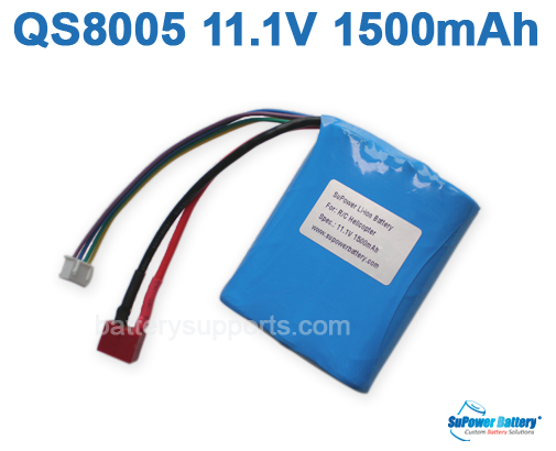 11.1V 1500MAH Lithium BATTERY for QS8005 R/C HELICOPTER