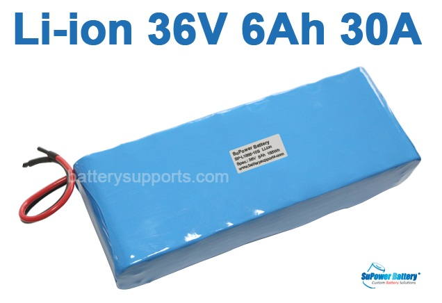 36V 37V 42V 6000mAh 6.0Ah 30A Lithium ion Li-ion Battery Pack