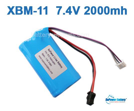 for R/C Helicopter XBM-12 , XBM-11 7.4V 2000mAh Li-ion Battery
