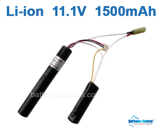 Airsoft Gun 11.1V 1500mAh Lithium ion Battery Pack - Mini Tamiya