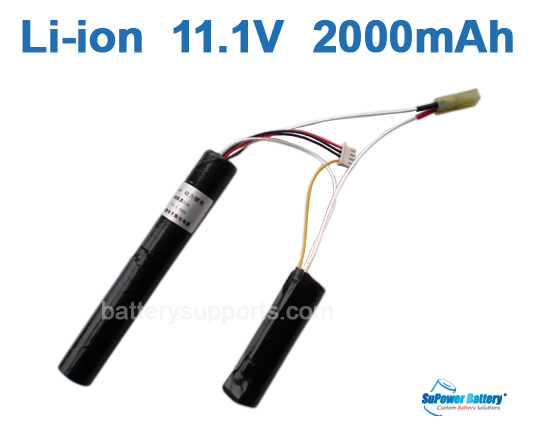 Airsoft Gun 11.1V 2000mAh Lithium ion Battery Pack - Mini Tamiya