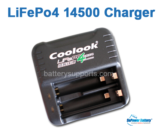 3.2V LiFePO4 LFP AA 14500 / AAA 10440 Battery Charger dual slot